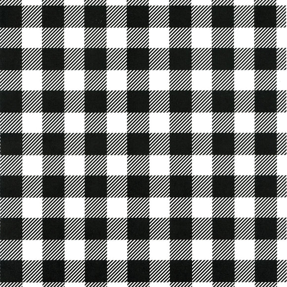 Gingham Tissue - Black & White