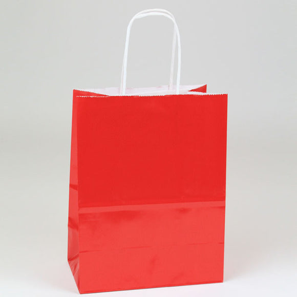 Red Gloss Shopping Bags