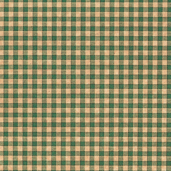 Gingham Tissue - Green & Kraft