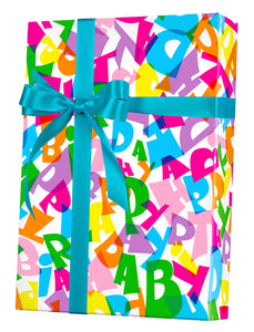 Happy Birthday Type Gift Wrap