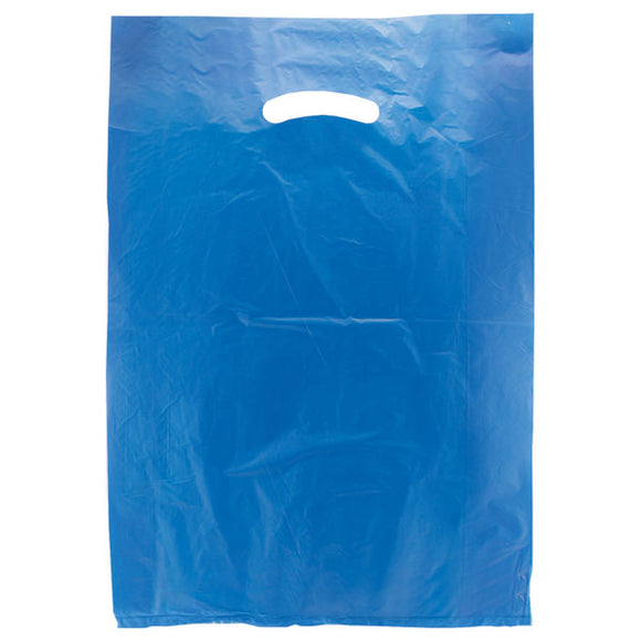 High Density Plastic Bags - Dark Blue - 12