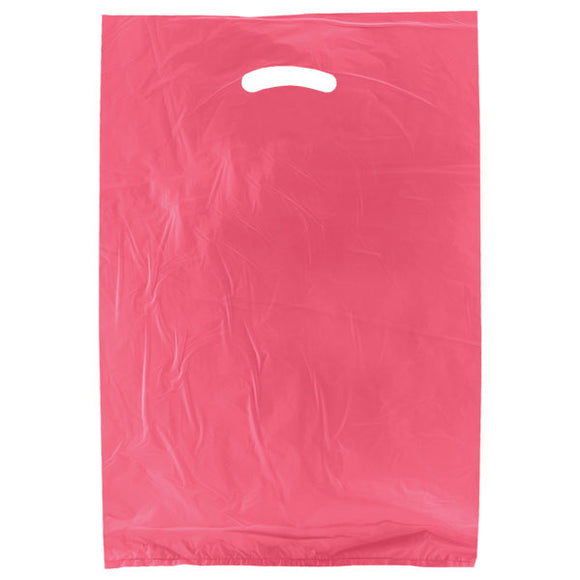 High Density Plastic Bags - Magenta - 13