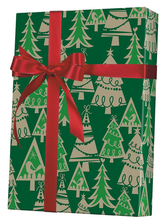 Holiday Forest Gift Wrap