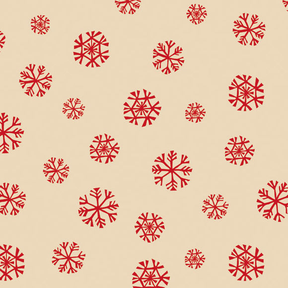 Homespun Snowflake Kraft Tissue