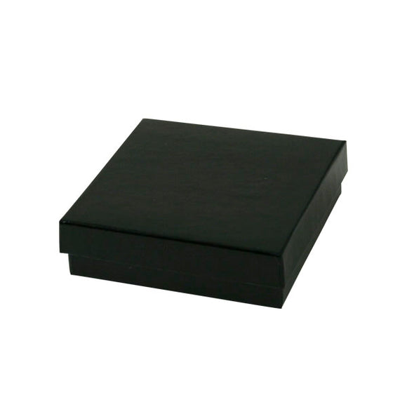 Cotton Filled Jewelry Boxes - Black