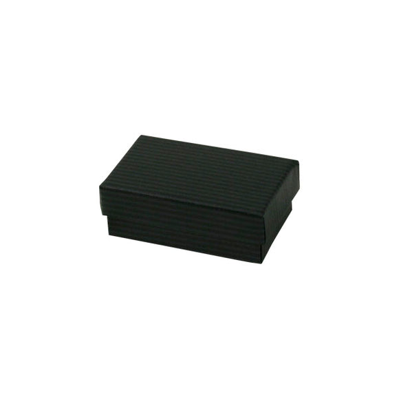 Cotton Filled Jewelry Boxes - Black Pinstripe