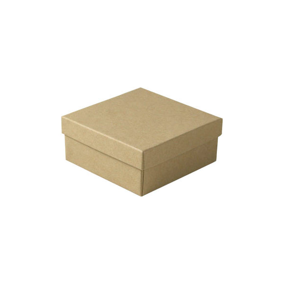 Cotton Filled Jewelry Boxes - Natural Kraft