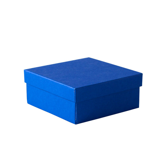 Cotton Filled Jewelry Boxes - Cobalt Blue
