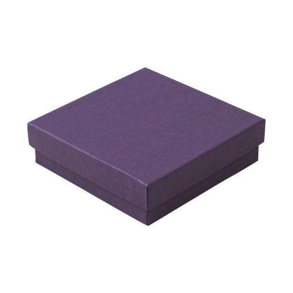 Cotton Filled Jewelry Boxes - Deep Purple