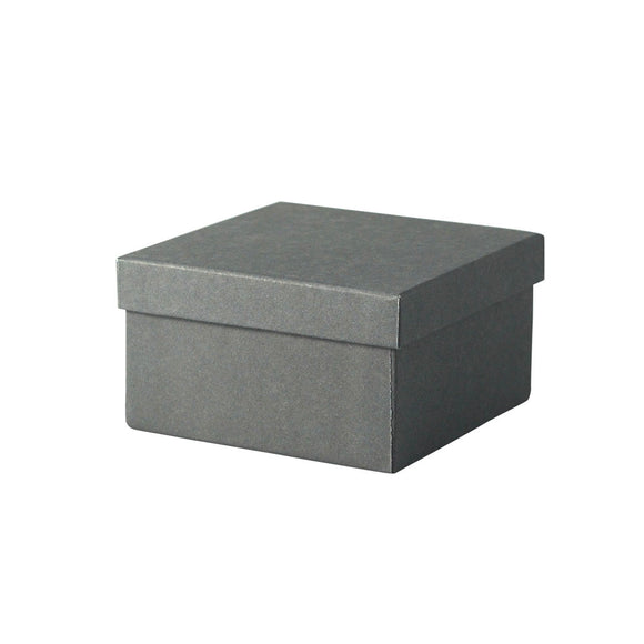 Cotton Filled Jewelry Boxes - Slate Gray - 3-1/2