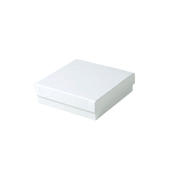 Cotton Filled Jewelry Boxes - White Krome