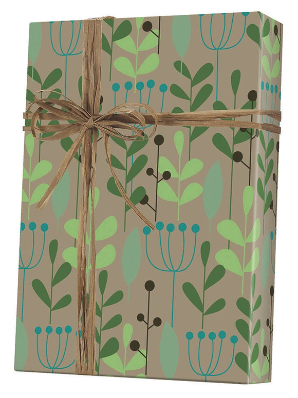 Leaves & Berries Gift Wrap