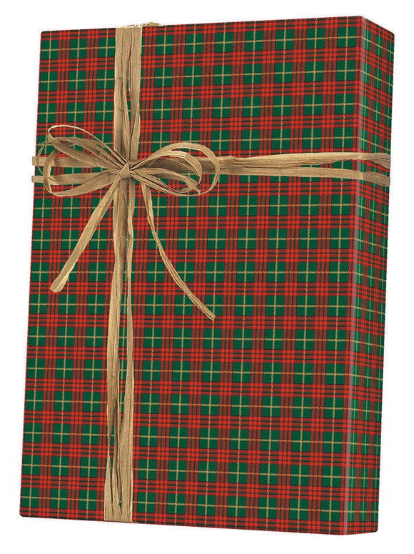 Christmas Plaid Gift Wrap