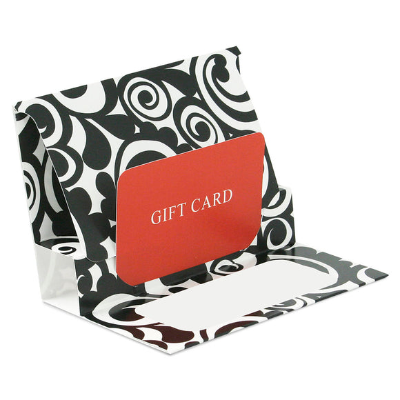 Gift Card Pop Up Folders - Bold Scroll