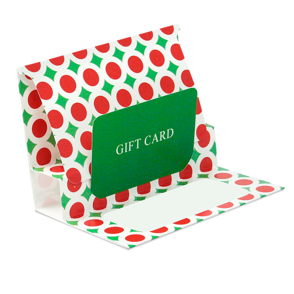 Gift Card Pop Up Folders - Bright Christmas