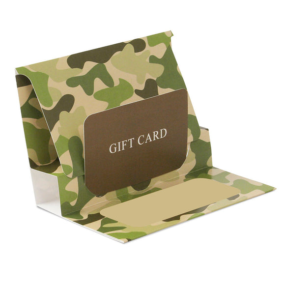 Gift Card Pop Up Folders - Camo