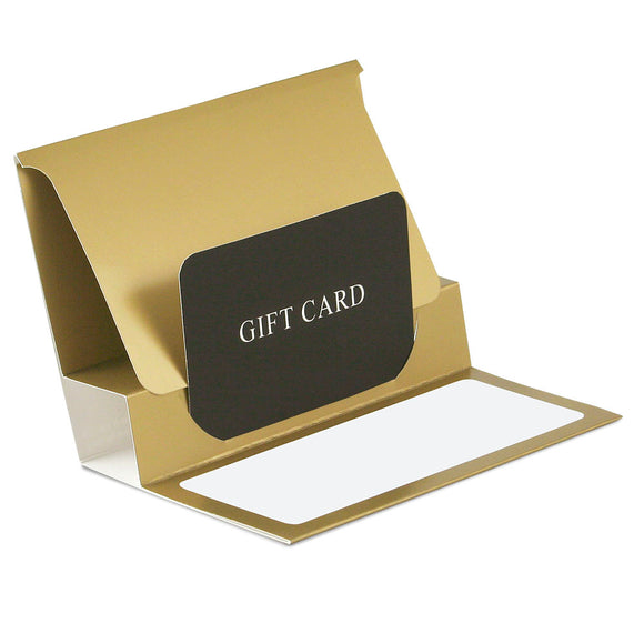 Gift Card Pop Up Folders - Gold