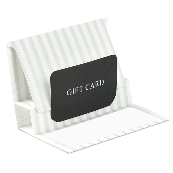 Gift Card Pop Up Folders - Pearl Stripe