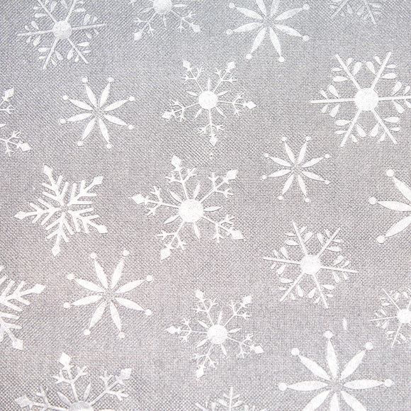 Reflections Tissue - Embossed Silver Snowflakes