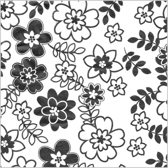Retro Flowers Tissue
