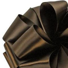 Double Face Satin Ribbon - Brown - 3 Sizes
