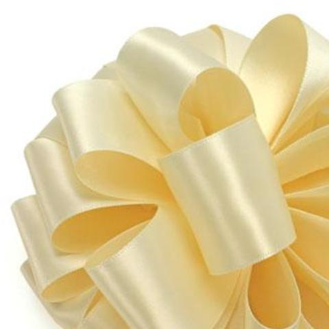 Double Face Satin Ribbon - Cream - 2 Sizes