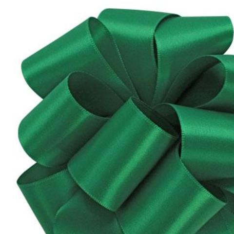 Double Face Satin Ribbon - Emerald - 2 Sizes