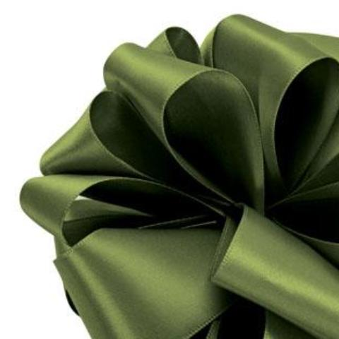 Double Face Satin Ribbon - Leaf Green - 2 Sizes