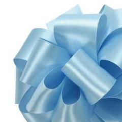 Double Face Satin Ribbon - Light Blue - 3 Sizes