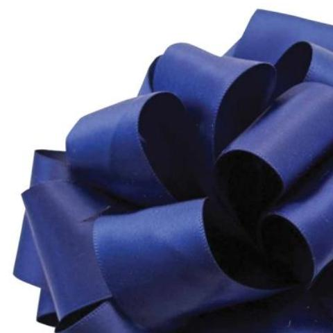 Double Face Satin Ribbon - Light Navy Blue - 2 Sizes