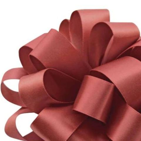 Double Face Satin Ribbon - Marsala - 2 Sizes