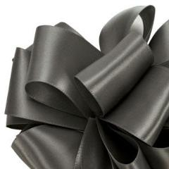 Double Face Satin Ribbon - Pewter - 3 Sizes