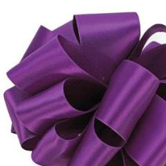 Double Face Satin Ribbon - Purple - 3 Sizes