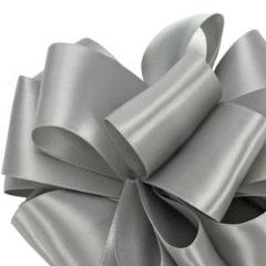 Double Face Satin Ribbon - Silver - 3 Sizes