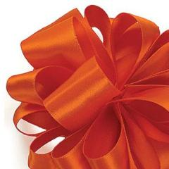 Double Face Satin Ribbon - Torrid Orange - 3 Sizes