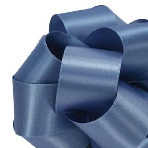 Double Face Satin Ribbon - True Blue - 2 Sizes