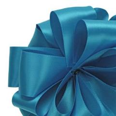 Double Face Satin Ribbon - Turquoise - 3 Sizes