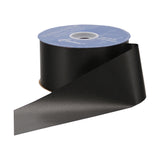 Flora Satin Ribbon - Black - 2 Sizes