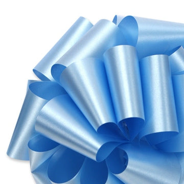 Flora Satin Ribbon - Light Blue - 2 Sizes
