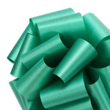 Flora Satin Ribbon - Emerald - 2 Sizes