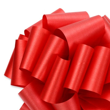 Flora Satin Ribbon - Imperial Red - 2 Sizes
