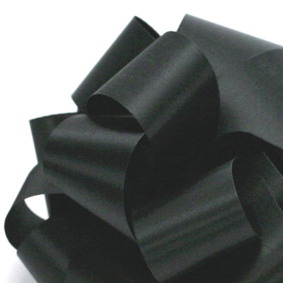 Satin Acetate Ribbon - Black - 2 Sizes
