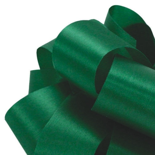 Satin Acetate Ribbon - Holiday Green - 2 Sizes