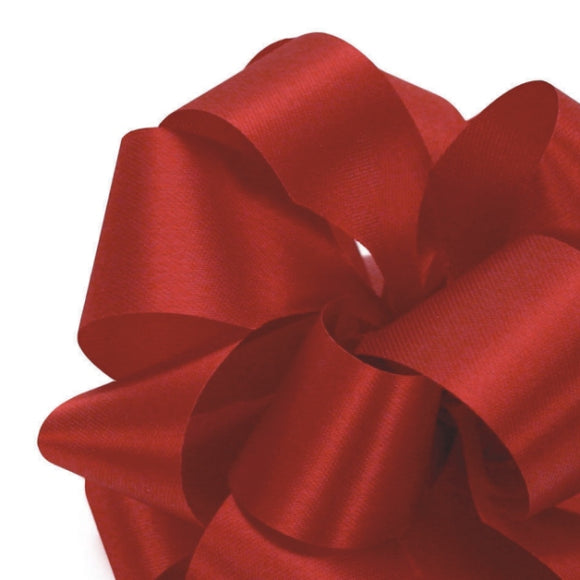 Satin Acetate Ribbon - Holiday Red - 2 Sizes