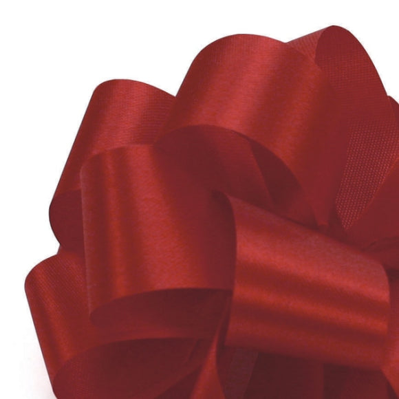 Satin Acetate Ribbon - Red - 2 Sizes
