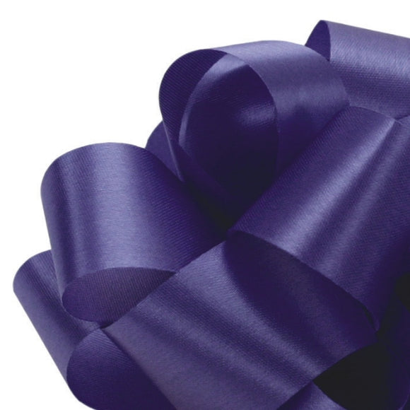 Satin Acetate Ribbon - Royal Blue - 2 Sizes