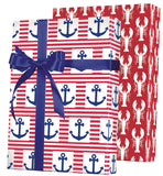 Ships Ahoy Reversible Gift Wrap