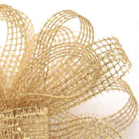 Showtime Mesh Ribbon - Gold