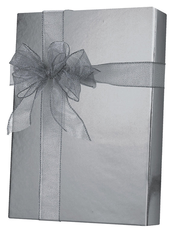 Silver Metallic Gift Wrap