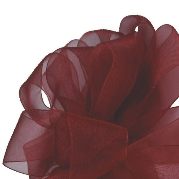 Simply Sheer Ribbon - Burgundy - 2 Sizes